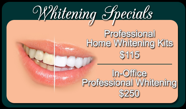 In Office Whitening Specials