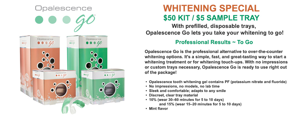 Opalescence Go Whitening Special at Progressive Dentistry Eldersburg Dentist